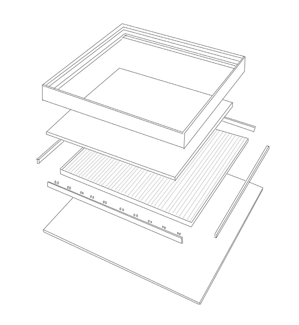 Exploded Drawing of the LED Panels