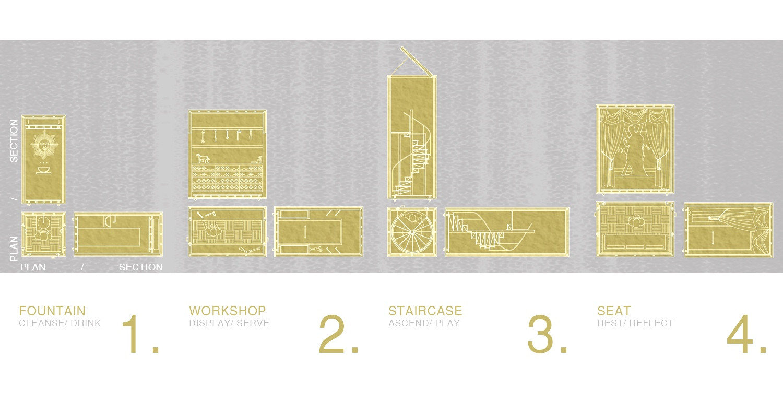 Micro Masonic Interiors, CAD, 2019