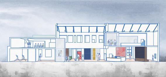 Section, Digital Sketch, Dimension, 2020.
