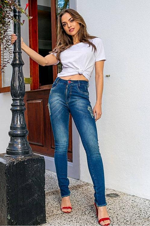 Calça Jeans Rasgos frente