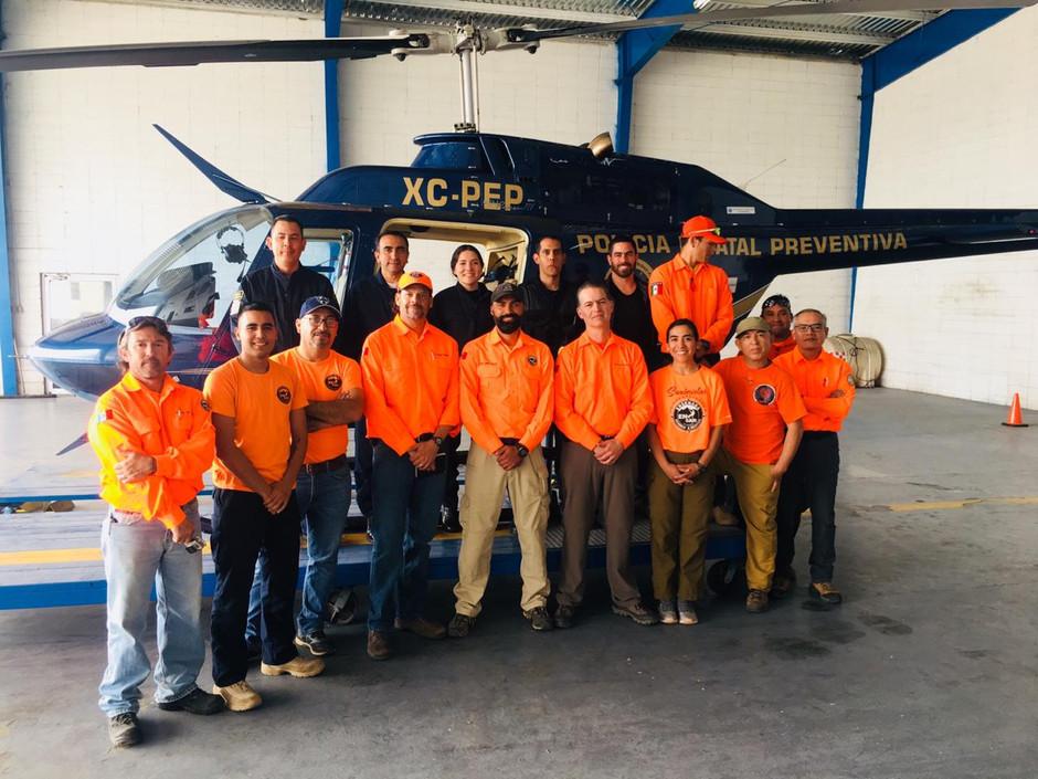 Curso de interacción con aeronaves para personal de EN-SAR Ensenada búsqueda y rescate A.C.