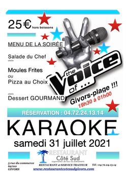 karaoké 31 juillet 2021