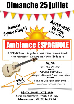 dimanche 25 juillet espagnol