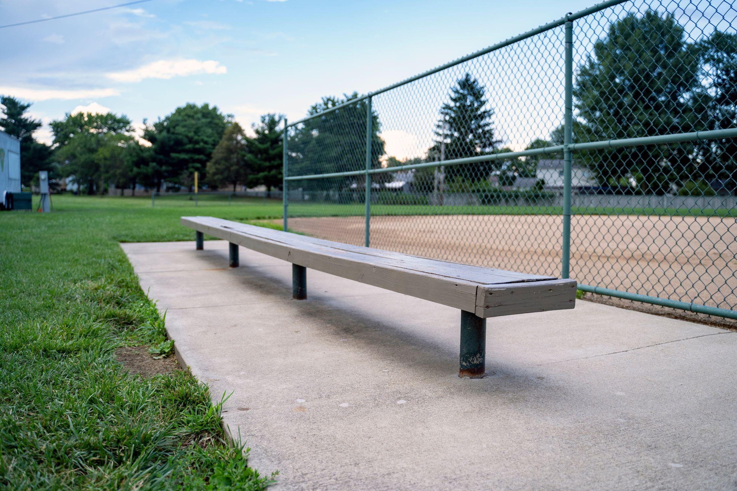 Empty Baseball Bench2