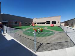 Courtyard playground progress