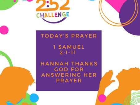 Hannah Thanks God For Answered Prayer