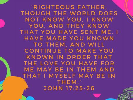 Jesus Prays For His Followers