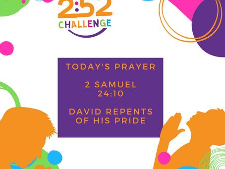 David Repents of Pride