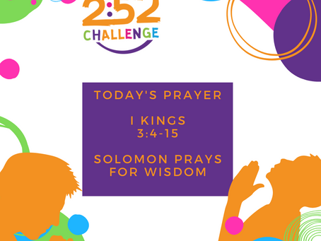 Solomon Prays For Wisdom
