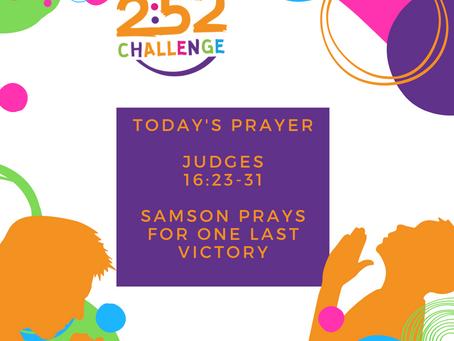 Samson Prays For One Last Victory