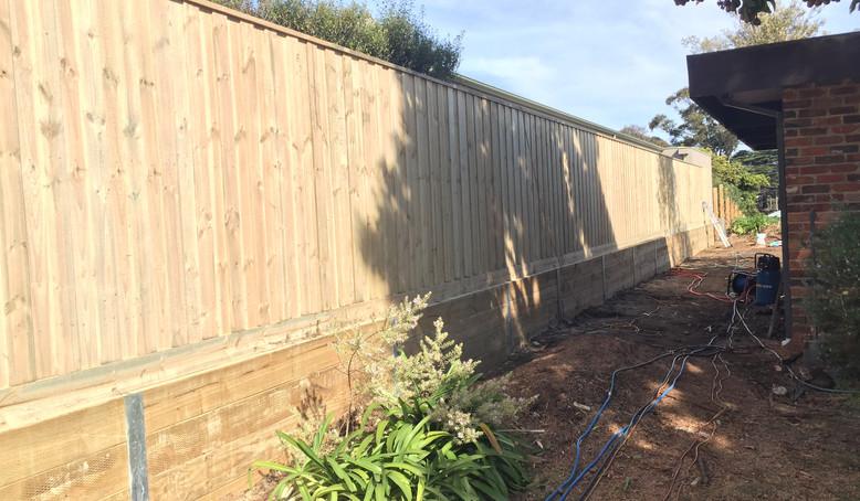 paling fence and retaining wall Mornington Peninsula Fences