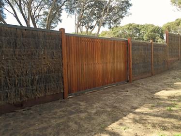 Brush fence - Mornington Peninsula Fences