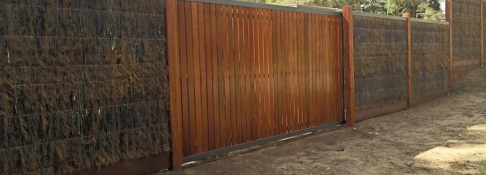 Brush fence - Mornington Peninsula Fences