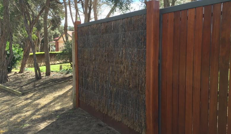 brush fence and gate Mornington Peninsula Fences