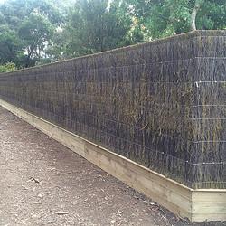 Instagram - Brush panel fence #fence #fencing