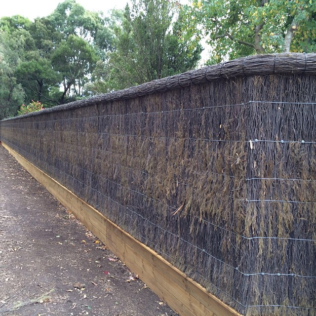 Instagram - Brush panel fence with a roll top