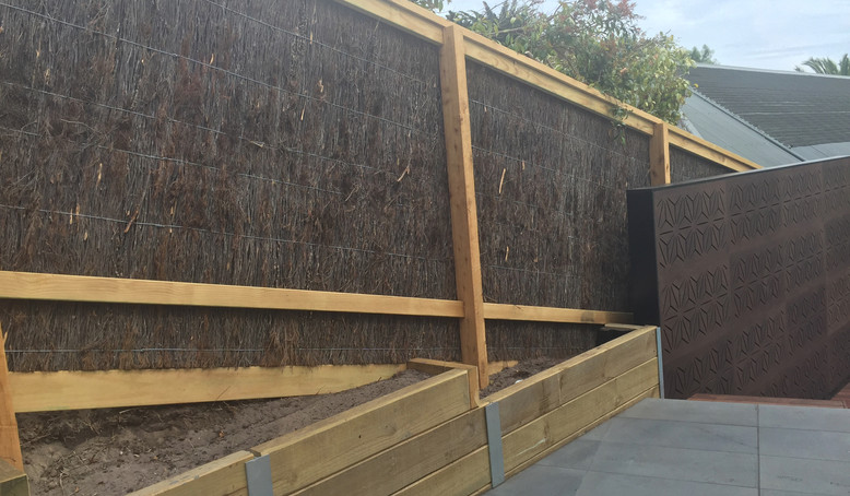 brush fence and retaining wall Mornington Peninsula Fences