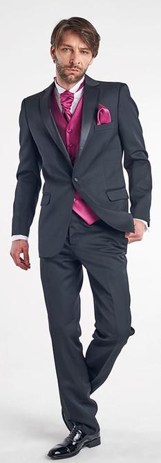 Tuxedo Negro Solapa Recta