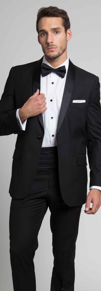 Tuxedo Negro Solapa Smoking