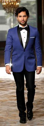 Tuxedo Solapa Smoking Azul Rey