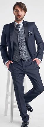 Tuxedo Listado Negro Chaleco