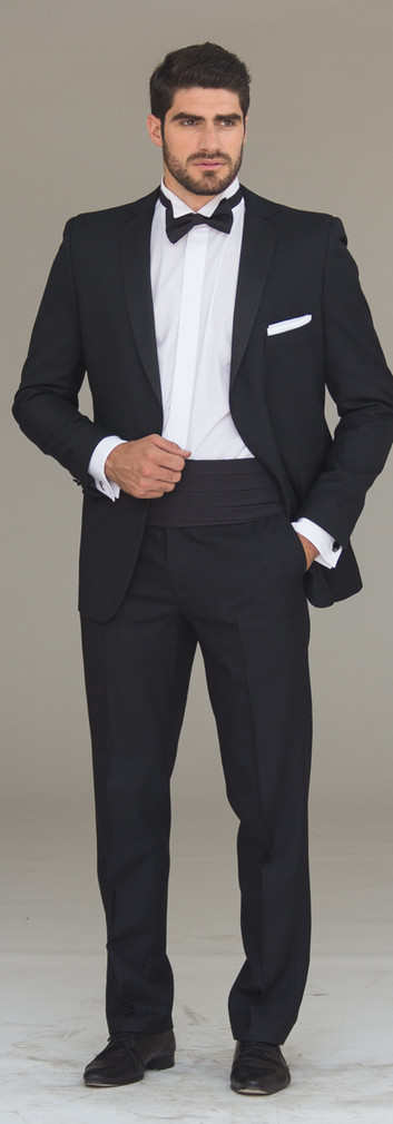 Tuxedo Solapa Recta Negro