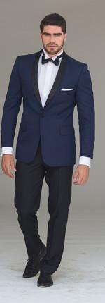 Tuxedo Solapa Smoking Azul Francia