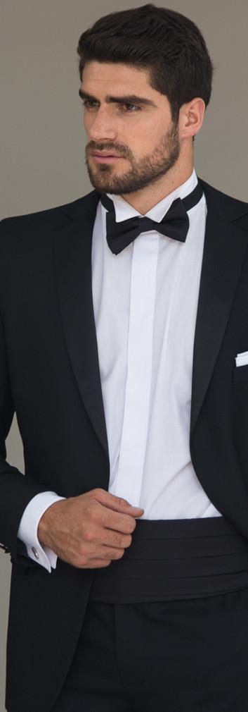 Tuxedo Solapa Smocking