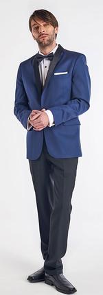 Tuxedo Solapa Smoking Azul