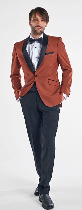Tuxedo Solapa Smoking Terracota