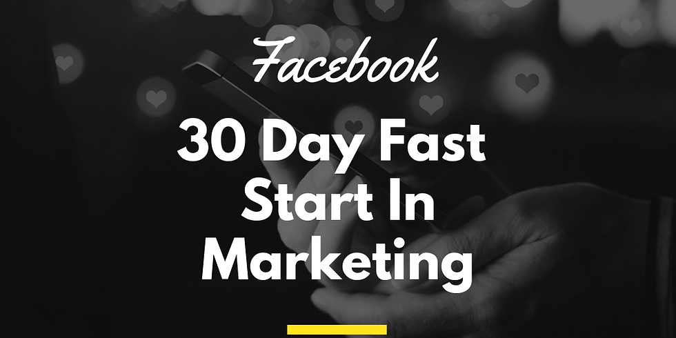 30 day Fast Start for Marketing on Facebook - A Cyndicate Talk
