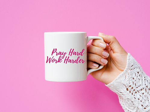 Work Hard Pray Harder Mug - Inspired by @Jennbabe.xo
