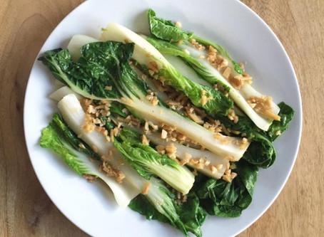 Happy Eating - Bok Choy in Ginger-Garlic Sauce