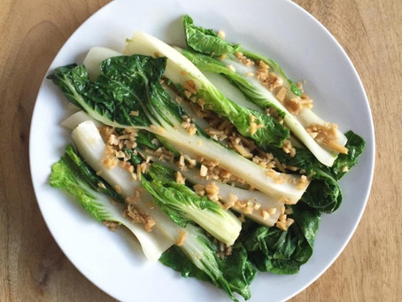 Happy Eating - Bok Choy in Ginger-Garlic Sauce