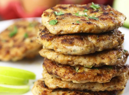 The Anti-Anxiety Diet Cookbook - Turkey Apple Kale Patties