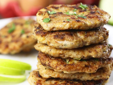 The Anti-Anxiety Diet Cookbook - Turkey Apple Kale Patties