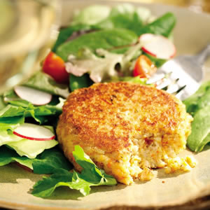Fun Fall Recipes: Brown Rice and Goat Cheese Cakes