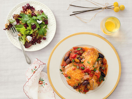 Braised Chicken with Olives and Capers
