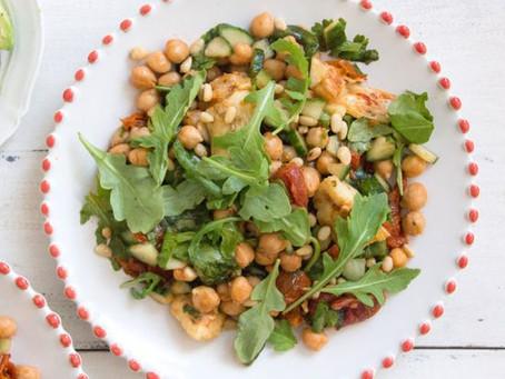 Cool Summer Recipes: Chickpea, Artichoke and Sun Dried Tomato Salad