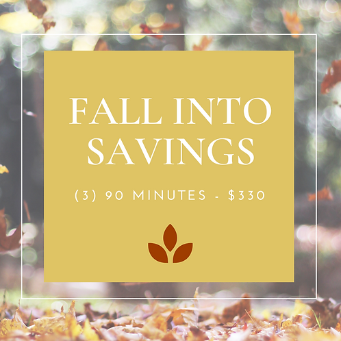 Fall Into Savings - (3) 90 Minute Massages