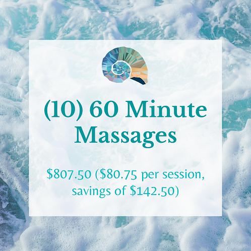 (10) 60 Minute Massages