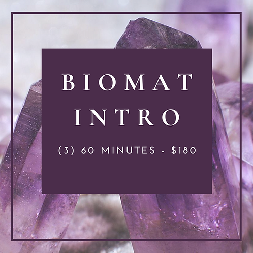 Biomat Intro Package (3) 60 Minutes