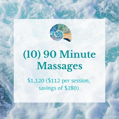 (10) 90 Minute Massages