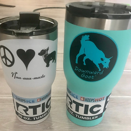 Downward Goat Branded RTIC InsulatedTumbler - 20oz.