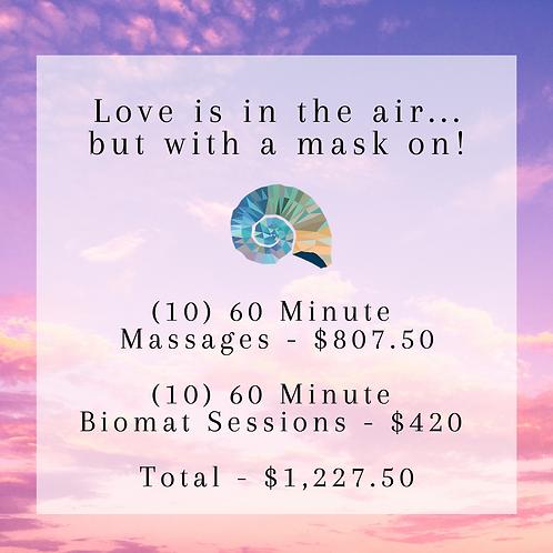 (10) 60 Minute Massages & Biomat Sessions