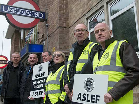 ASLEF Central line drivers will strike this Friday.