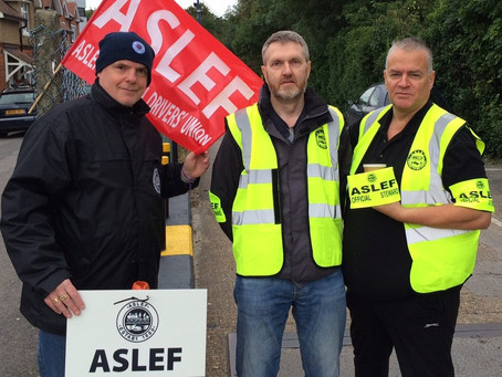 ASLEF Central line members 90% Yes vote to strike!