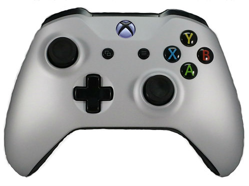 Xbox One S Silver Soft Touch Controller