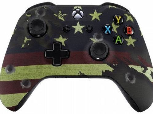 Xbox One S / X Modded Rapid Fire Controller- American Flag