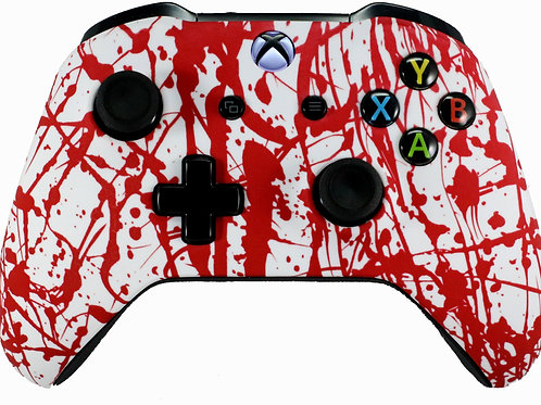 Xbox One S Blood Splatter Soft Touch Controller